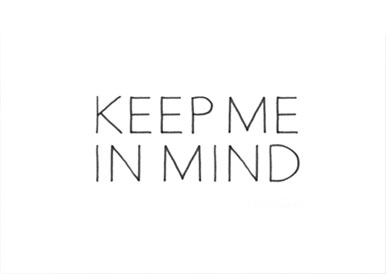 KEEP ME IN MIND - Logo
